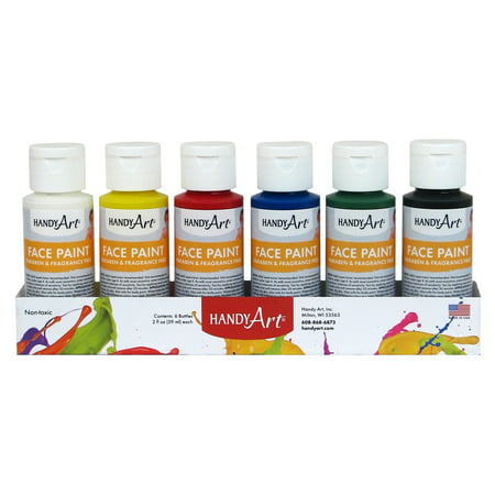 Handy Art® Washable Face Paint, Set of 6 Colors