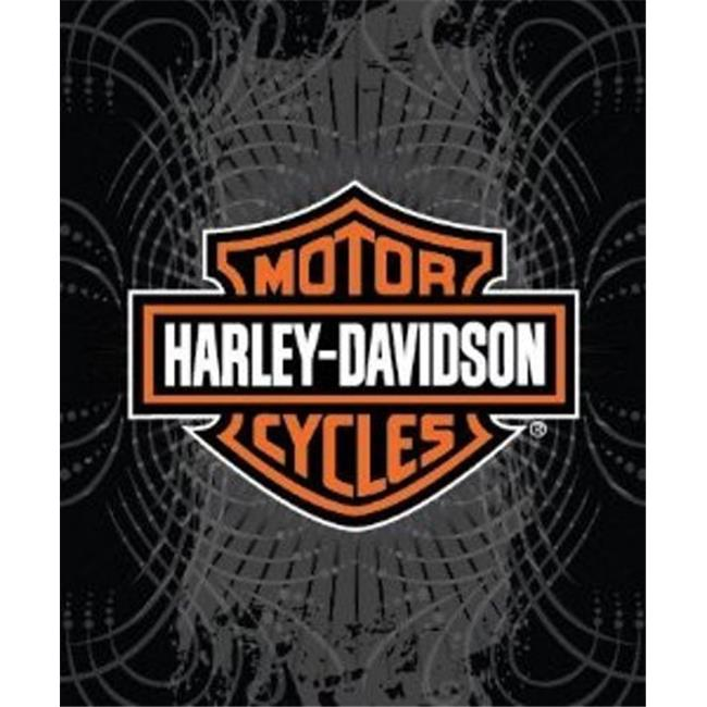 harley-davidson 50''x60'' plush blanket - walmart