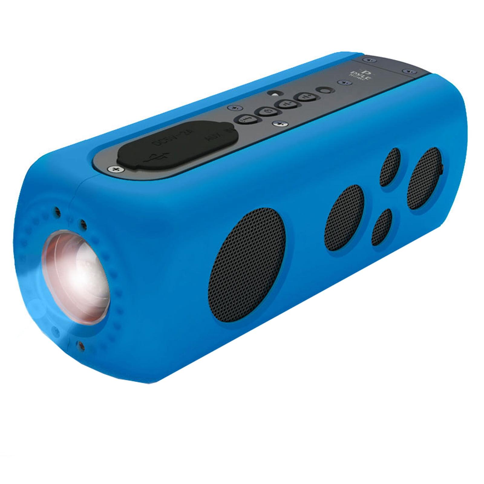 SoundBox Splash 2 BT Rugged and Splash-Proof Speaker System with Built-in LED Flashlight, Hand Crank Turbine er and AUX Input (Blue Color)