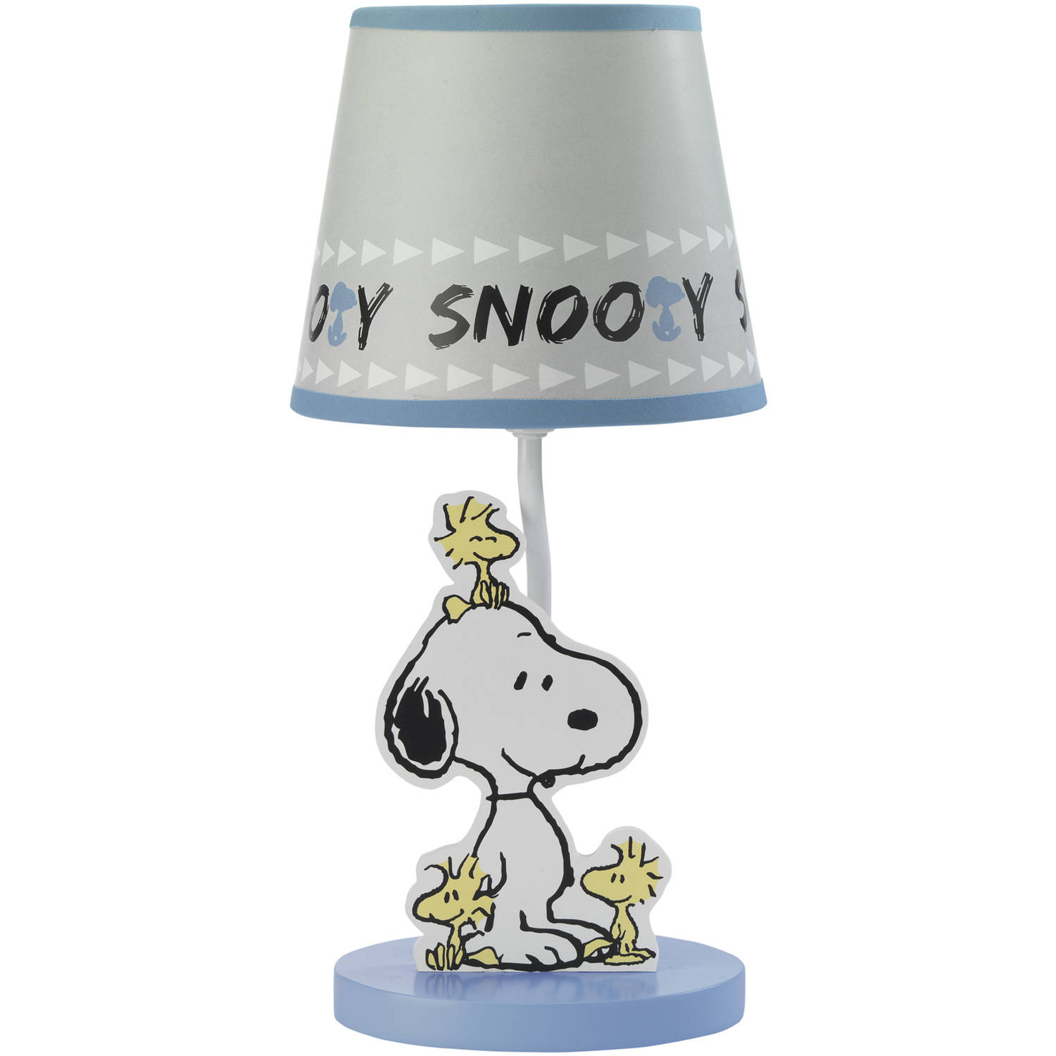 Bedtime Originals Peanuts Forever Snoopy Lamp with Shade and Bulb, Blue/Gray