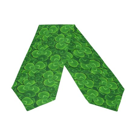 Shamrock Table Decorations (POPCreation St Patrick's Day Shamrock Clover Table Runner Bed Runner 13x90 Inches Home Table Top Decoration Wedding Party)