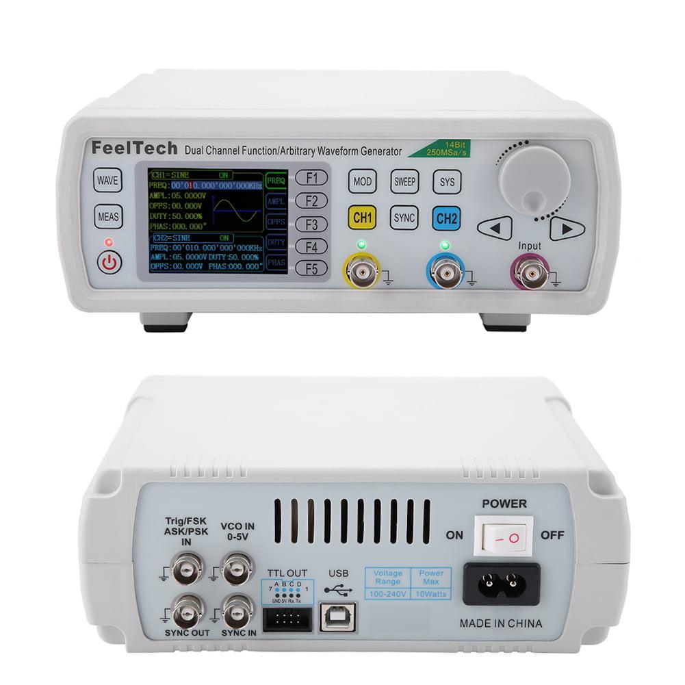 60MHz FeelTech FY6600 Dual Channel Arbitrary Pulse Waveform DDS Signal Generator