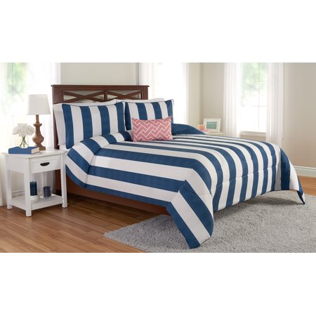 Four Piece Comforter - Better homes and gardens blue & white 4 piece comforter set, Full/queen