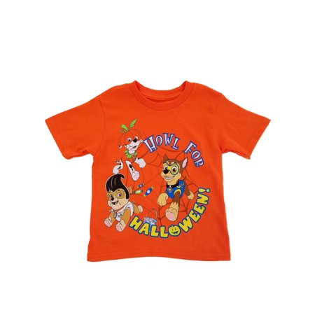 Paw Patrol Nickelodeon Toddler Boys Orange Howl For Halloween T-Shirt](Paw Patrol Halloween Printables)