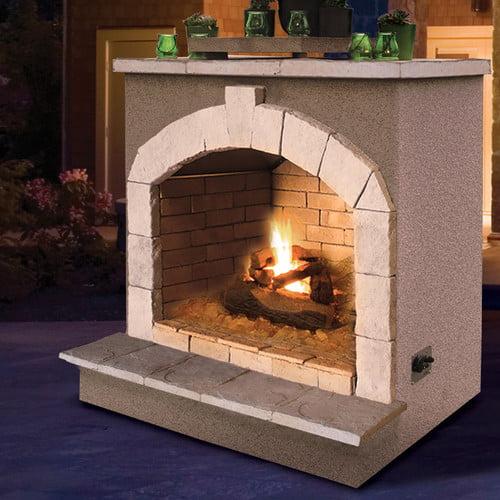 calflame propane gas outdoor fireplace walmart