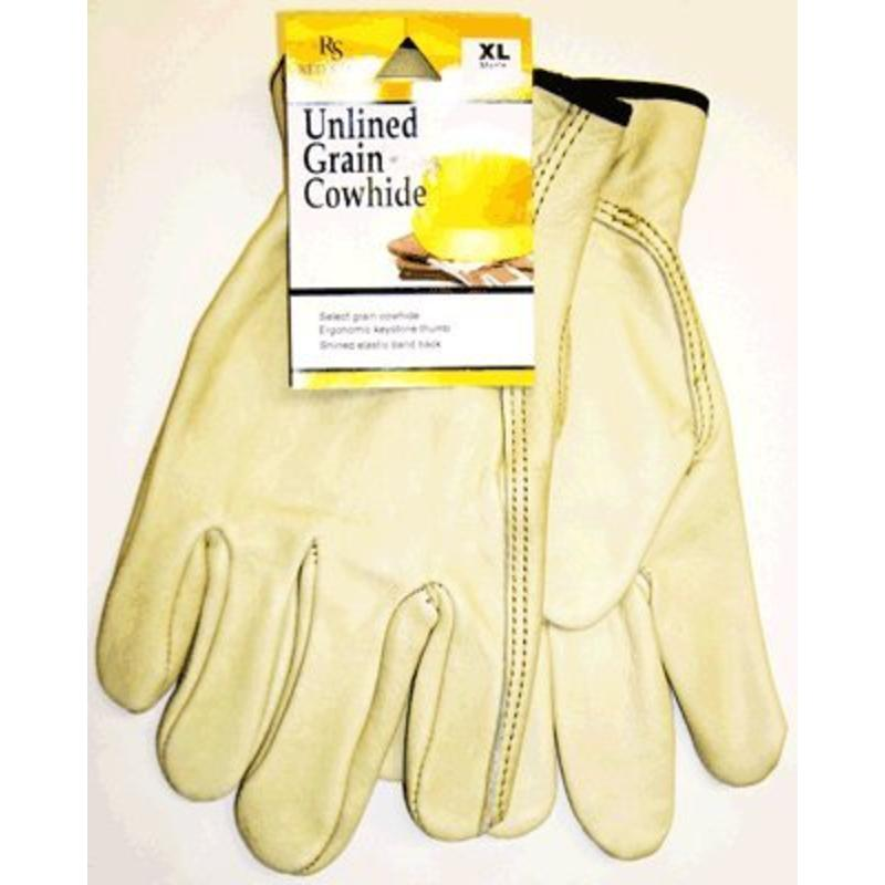 Tan Medium Grain Cowhide Leather Driver's Gloves, Keystone Thumb, Uncoated