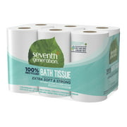 Seventh Generation Toilet Paper, Bath Tissue, 100% Recycled Paper ...