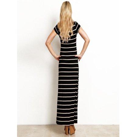 4f87e03e75f Mosunx - Mosunx Women s Fashion Maternity Striated Comfortable Pregnancy  Clothes Long Maxi Dress - Walmart.com