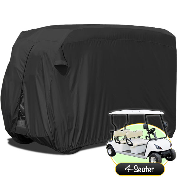 KapscoMoto Waterproof Superior Black Golf Cart Cover Cove...
