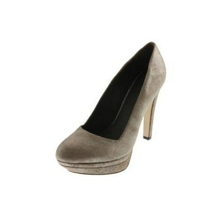 Diesel Womens Melrose Ashly Leather Metallic Platform Heels Brown