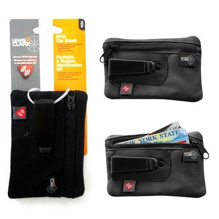 - RFID Clip On Stash Pouch Wallet Travel Safe Security Id Holder Lewis N Clark BK