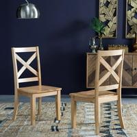 Belham Living Harrison Farmhouse Natural Dining Chair - Set of 2