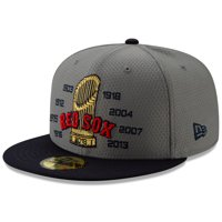 592150272 Product Image Boston Red Sox New Era Men's World Series Champs 59FIFTY  Fitted Hat - Gray/Navy