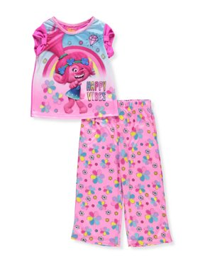 Trolls Girls' 2-Piece Pajamas - fuchsia/multi, 3t
