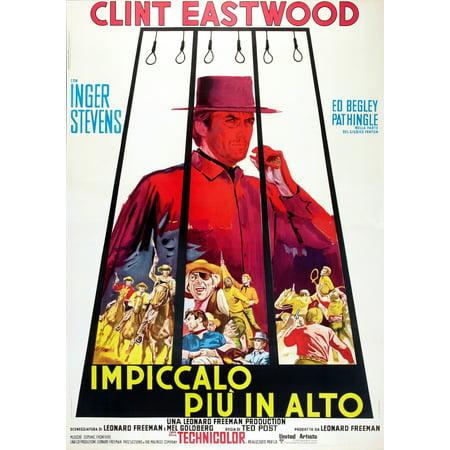 Hang Em High Clint Eastwood Italian Poster Art 1968 Movie Poster Masterprint