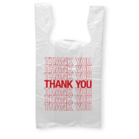 500 Pack Thank You Plastic Bags 18x8x28 Carry Out T Shirt Bag Reusable Preprinted Ping Handled Polyethylene For Groceries Clothes