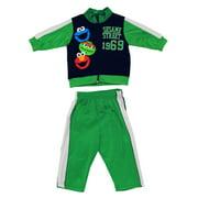 Sesame Street Cast Team 2 Piece Baby Jumpsuit Jacket and Pants