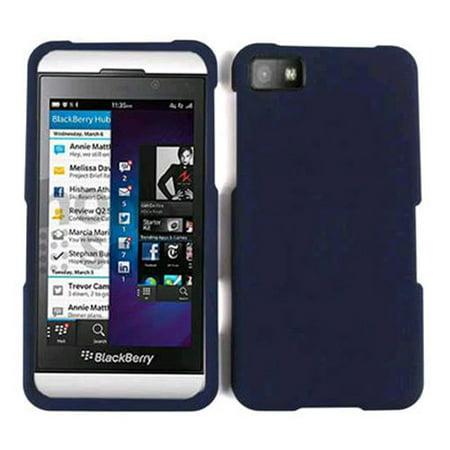 (Cell Armor Snap-On Case for BlackBerry Z10 - Honey Navy Blue, Leather Finish)