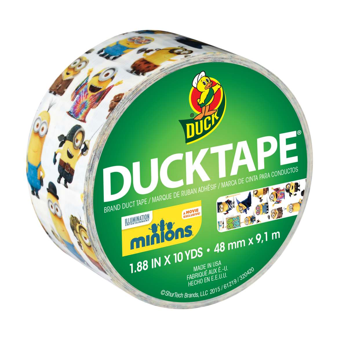 "Duck Brand Duct Tape, 1.88"" x 10 Yards, Minions Duck Tape"