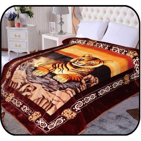Jcp Hometex Inc  Hiyoko Safari Tiger Animal Mink Blanket