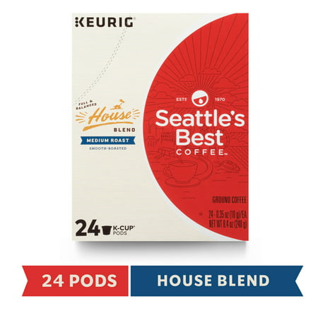 Seattle's Best Coffee House Blend Medium Roast Single Cup Coffee for Keurig Brewers, Box of 24 K-Cup (Best Coffee Houses In The World)
