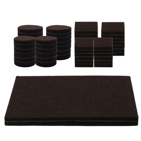 Non Woven Felt (58pcs Felt Furniture Pads Non-slip Floor Protector for Table Chair)