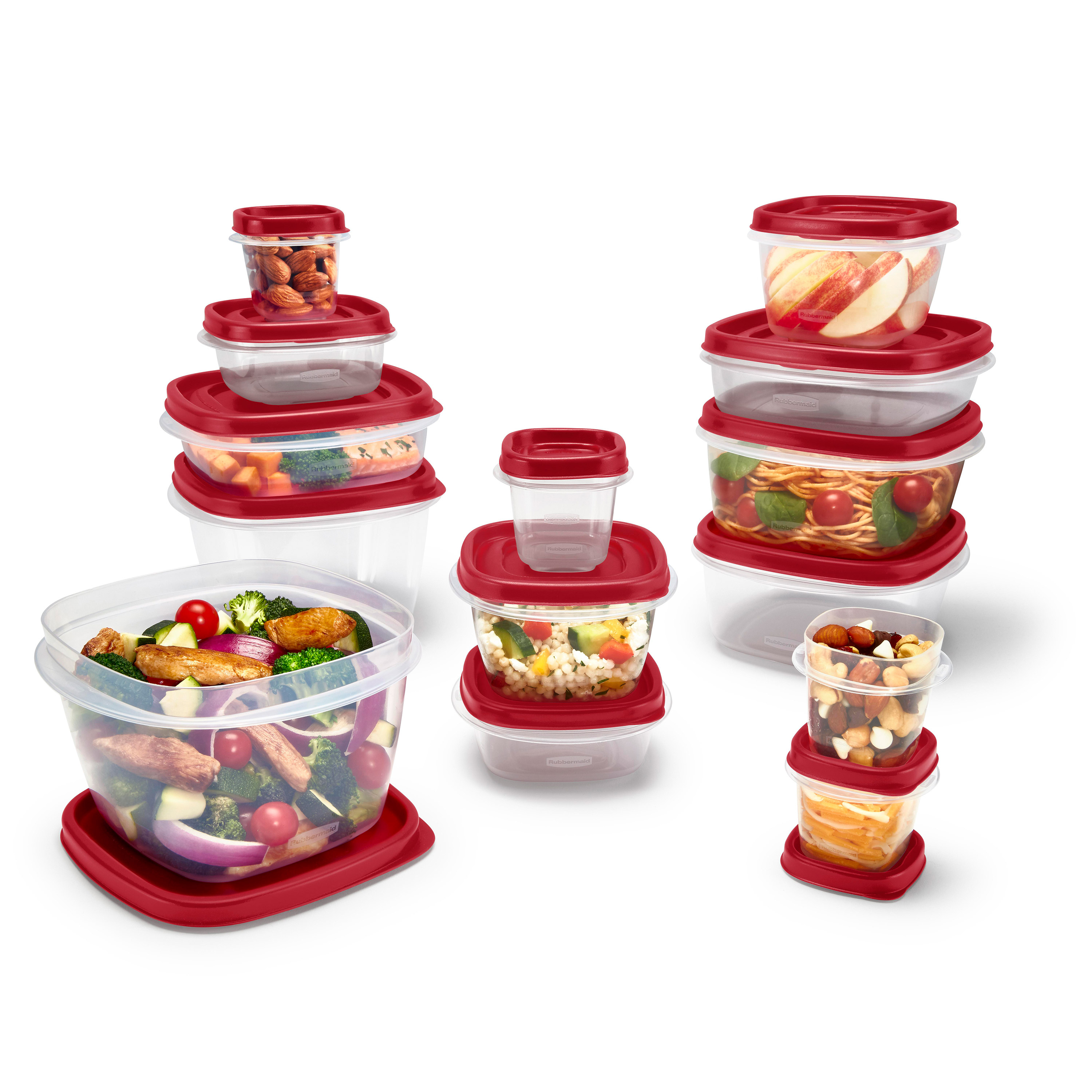 24-Piece Rubbermaid Easy Find Vented Lids Food Storage Containers