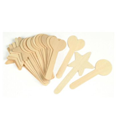 Large Popsicle Sticks (Large Geometric Shapes Craft Sticks 36)