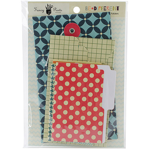 Be Different Patterned Envelopes and Folders 6pk