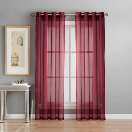 - Sheer Voile Curtain Panels
