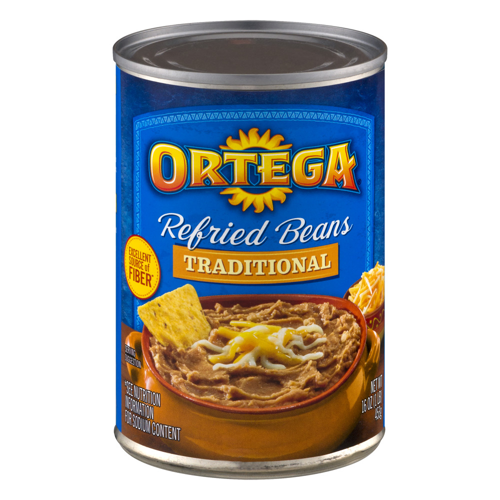 Ortega Traditional Refried Beans, 16 Oz
