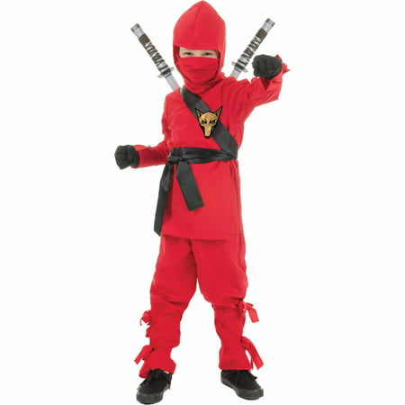 Red Ninja Child Halloween Costume (Ninja Suit For Kids)