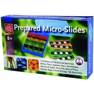 12 Prepared Micro-Slides + 6 Blank Slides # EDU-36730, By EDUTOYS From USA](Prepared Slides)