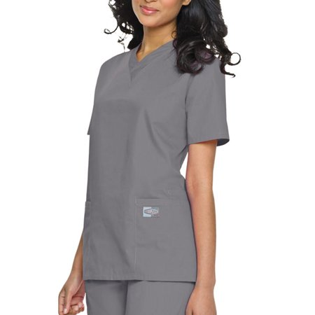 Crimson Scrubs Top - Landau Unisex V-Neck Scrub Top, Style 71221