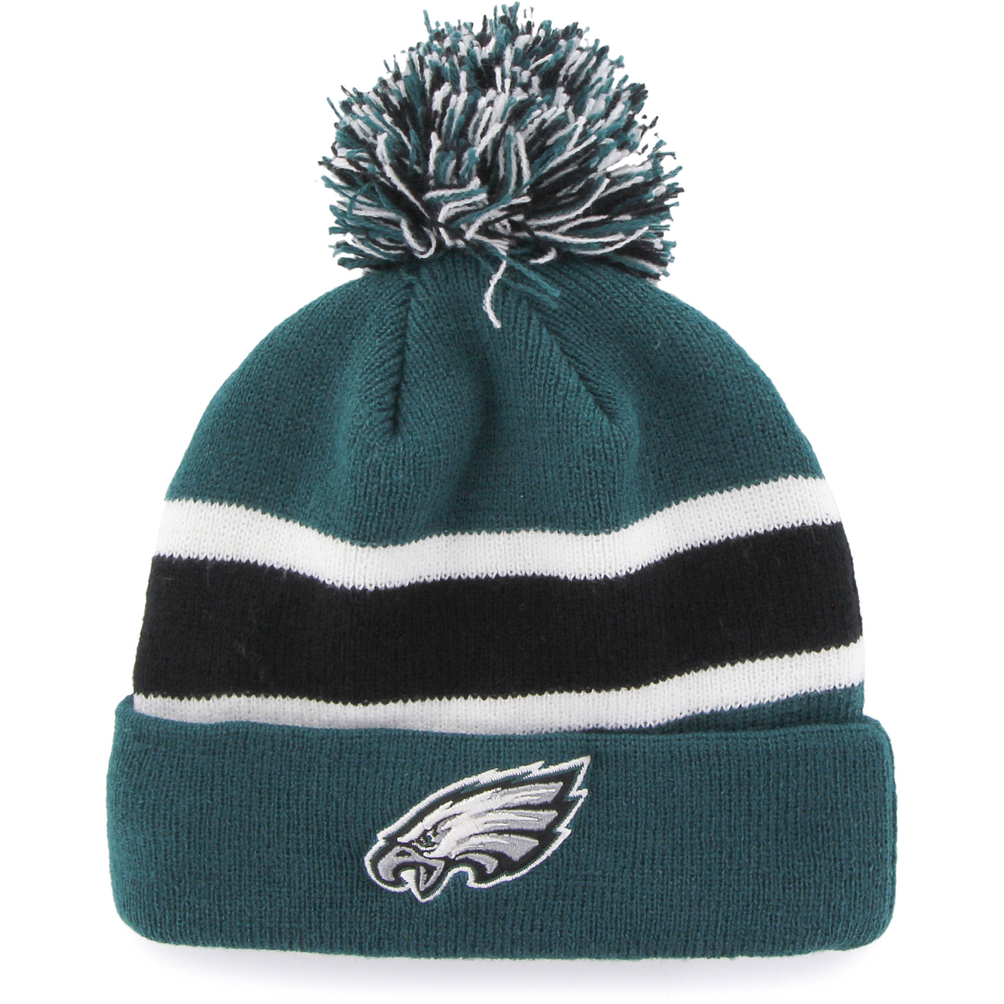 Fan Favorites F-MBRKW24ACE-PG OSF NFL Philadelphia Eagles Breakaway Beanie with Pom - One Size