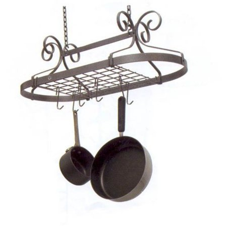 Decor Oval Hanging Pot Rack