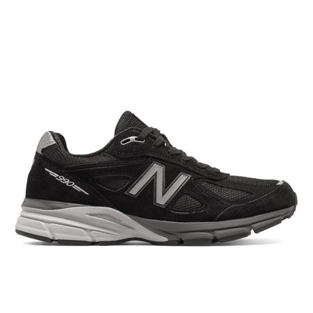 New Balance M990BK4: 990 Made in the USA Black Silver Mens Running Sneaker (12 D(M) US Men, Black