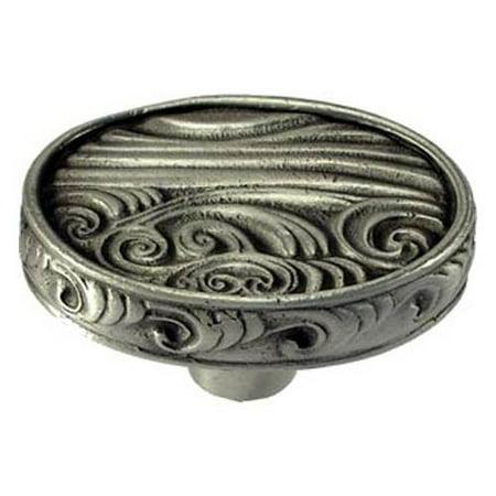 Surf oval knob Set of 10 Antique Bronze