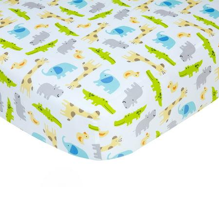 Carter's 100% Cotton Sateen Fitted Crib Sheet - Multi Safari