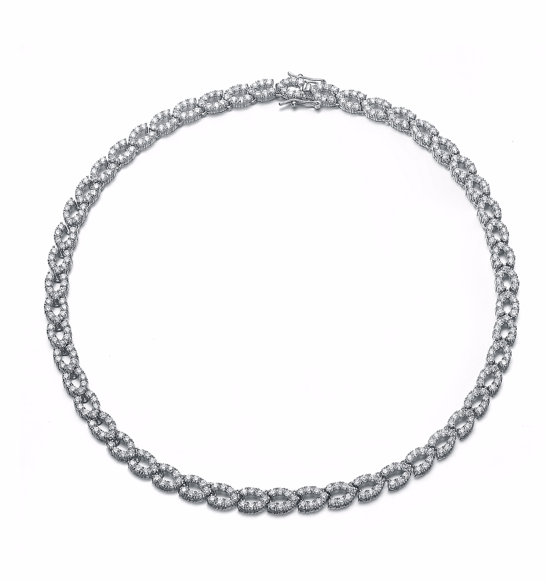 Rozzato Sterling Silver Luxurious Chain Necklace