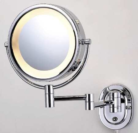 SEE ALL INDUSTRIES HLCSA895 Lighted Makeup Mirror, 8 In., Chrome, 5X