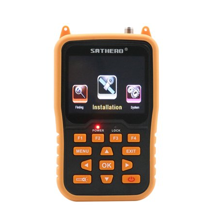 SATHERO SH-400HD Global Universal TV Signal Finder Meter DVB-S/ Full HD 1080P Digital Meter H.264 MPEG-4 with 3.5 Inch LCD Display 2800mAh Battery 37 Lcd Full Hdtv