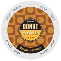 Authentic Donut Shop Vanilla Hazelnut, Single Serve Cup Portion Pack for Keurig K-Cup Brewers, 24 Count