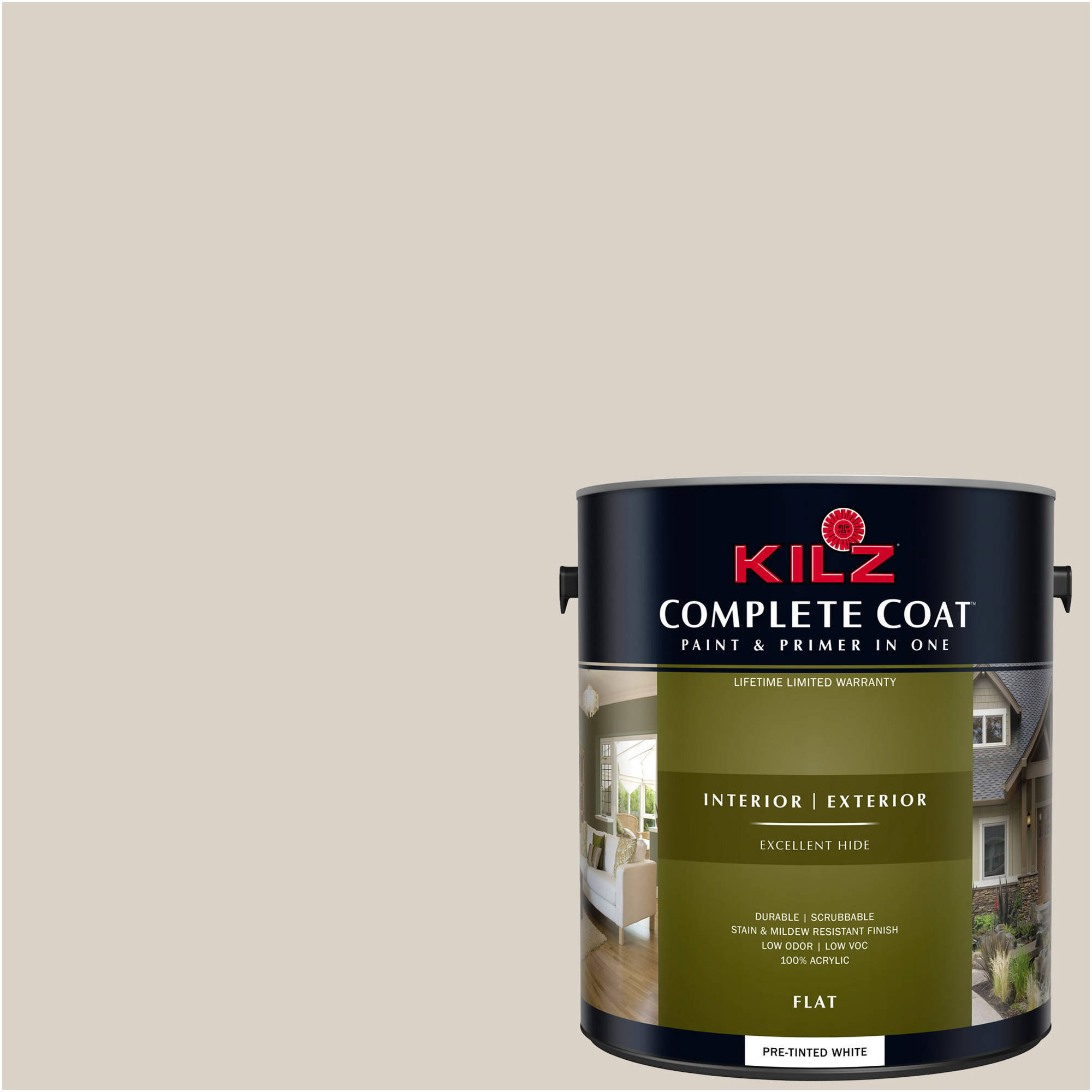 KILZ COMPLETE COAT Interior/Exterior Paint & Primer in One #LK210 Starched Linen