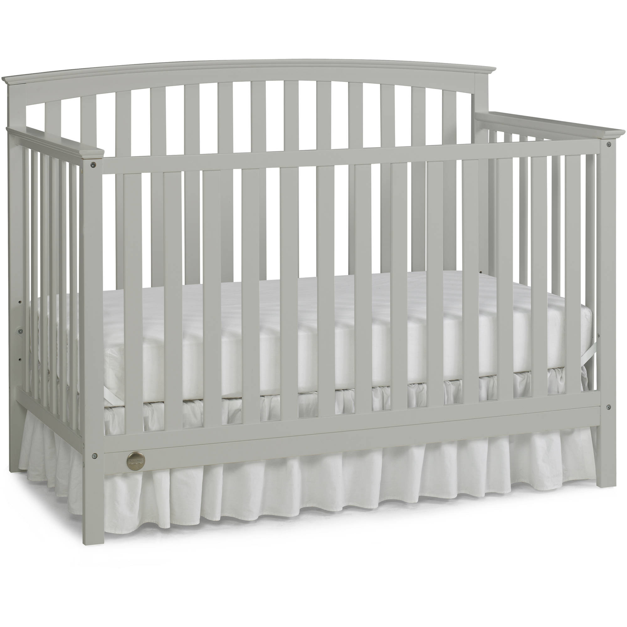 Fisher-Price Jesse 4-in-1 Convertible Crib Collection, Misty Grey