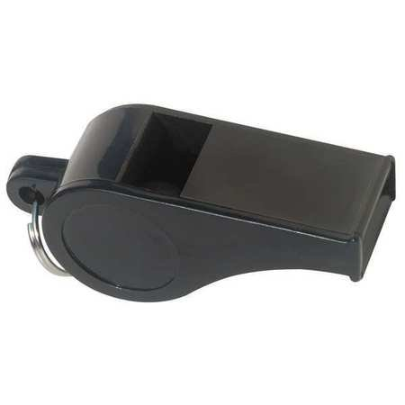 Black Whistle (ZORO SELECT 1ZBY5 Whistle, Standard, Black, ABS Plastic )