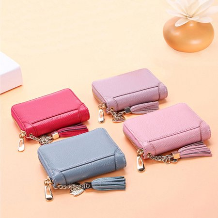 - 20/40/60 Card Slots Fashion Lady Genuine Leather Women Wallet Clutch Long / Short Purse Credit Card Holder Handbag Valentine's Day Christmas Gifts For Women