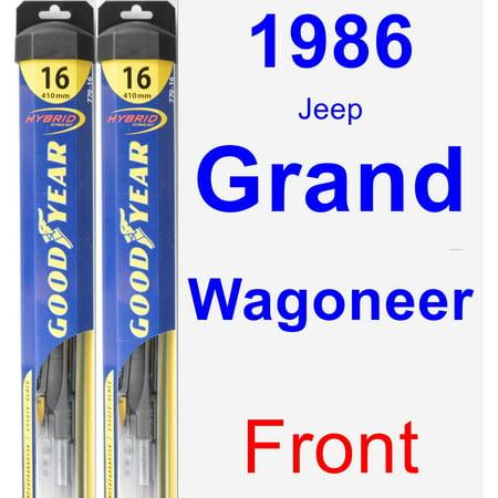 - 1986 Jeep Grand Wagoneer Wiper Blade Set/Kit (Front) (2 Blades) - Hybrid