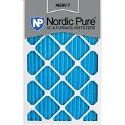 16x24x1 Pleated MERV 7 AC Furnace Air Filters Qty 6