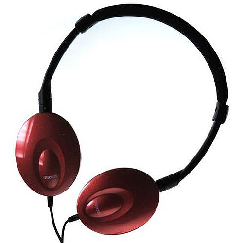 Maxwell Classic Headphones with Microphone, Red